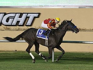 Strategic Leader wins the 2012 Red Earth Stakes.