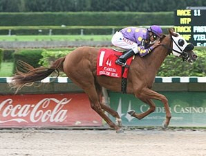 Awesome Belle wins the 2011 My Dear Girl.