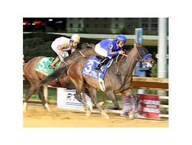 "Game On Dude won the 2013 Charles Town Classic in April.<br><a target=""blank"" href=""http://photos.bloodhorse.com/AtTheRaces-1/at-the-races-2013/27257665_QgCqdh#!i=2467927612&k=j25j93G"">Order This Photo</a>"