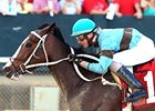 Tiz Miz Sue and Joe Rocco Jr. take the Azeri Stakes at Oaklawn.