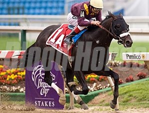 Miner's Escape wins the 2009 Frederico Tesio.