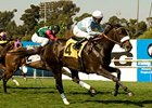 "Harmonious flies home to win the American Oaks.<br><a target=""blank"" href=""http://www.bloodhorse.com/horse-racing/photo-store?ref=http%3A%2F%2Fpictopia.com%2Fperl%2Fgal%3Fprovider_id%3D368%26ptp_photo_id%3D9095110%26ref%3Dstory"">Order This Photo</a>"