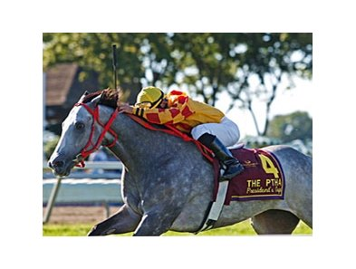Soldier's Dancer scored a repeat victory in the PTHA President's Cup at Philadelphia Park.