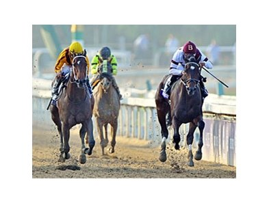 "Royal Delta runs away from them in the Ladies' Classic.<br><a target=""blank"" href=""http://photos.bloodhorse.com/BreedersCup/2012-Breeders-Cup/Ladies-Classic/26130180_8NMncD#!i=2191451363&k=npTjgkm&lb=1&s=A7"">Order This Photo</a>"