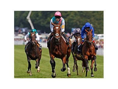 Frankel wins the Sussex Stakes at Goodwood.