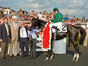 Debussy after winner the 2010 Arlington Million.