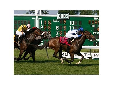 Ruthenia rallied to win the Violet Stakes on May 28.