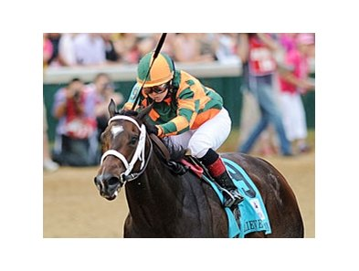 "Believe You Can and Rosie Napravnik capture the 2012 Kentucky Oaks.<br><a target=""blank"" href=""http://photos.bloodhorse.com/AtTheRaces-1/at-the-races-2012/22274956_jFd5jM#!i=1829102300&k=wRXPKHN"">Order This Photo</a>"