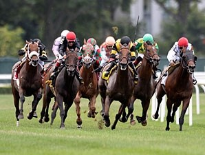 Boisterous wins the 2013 Man o' War.