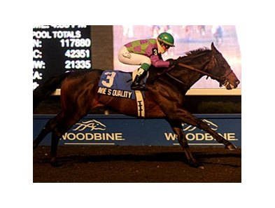 Avie's Quality rolls home to win the Display Stakes at Woodbine.