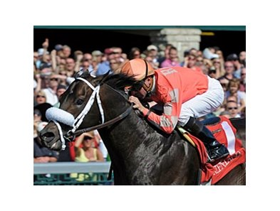 "Together Indy rallied under Kent Desormeaux to win the Commonwealth Stakes at Keeneland. <br><a target=""blank"" href=""http://www.bloodhorse.com/horse-racing/photo-store?ref=http%3A%2F%2Fpictopia.com%2Fperl%2Fgal%3Fprovider_id%3D368%26ptp_photo_id%3D8886021%26ref%3Dstory"">Order This Photo</a>"