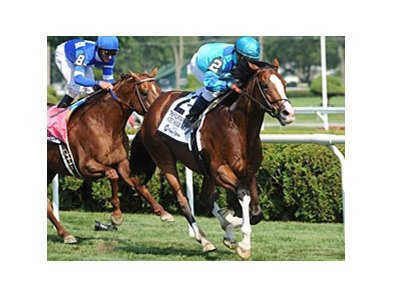 "Get Stormy breezed to victory in the Fourstardave Handicap at Saratoga.<br><a target=""blank"" href=""http://www.bloodhorse.com/horse-racing/photo-store?ref=http%3A%2F%2Fpictopia.com%2Fperl%2Fgal%3Fprovider_id%3D368%26ptp_photo_id%3D9124896%26ref%3Dstory"">Order This Photo</a>"