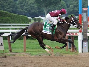 Tizway Puts in 'Tremendous Work' at Belmont