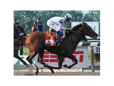 "Drosselmeyer and Mike Smith power to victory in the Belmont Stakes. <br><a target=""blank"" href=""http://www.bloodhorse.com/horse-racing/photo-store?ref=http%3A%2F%2Fpictopia.com%2Fperl%2Fgal%3Fprovider_id%3D368%26ptp_photo_id%3D9054173%26ref%3Dstory"">Order This Photo</a>"