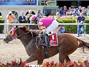 Groupie Doll wins the Hurricane Bertie Stakes.