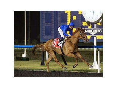 African Story storms home for a repeat win in the Burj Nahar.