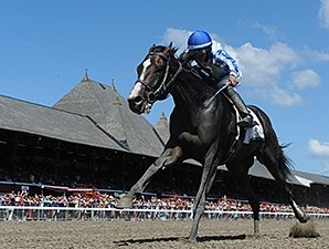 Upstart wins the Funny Cide Stakes.