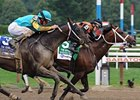 "Justin Phillip finished second to Poseidon's Warrior in the Aug. 6 Alfred G. Vanderbilt Handicap. <br><a target=""blank"" href=""http://photos.bloodhorse.com/AtTheRaces-1/at-the-races-2012/22274956_jFd5jM#!i=2008372799&k=HrPNWXR"">Order This Photo</a>"