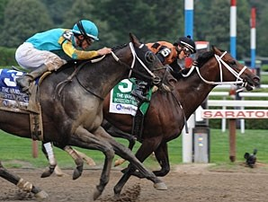 Poseidon's Warrior wins the Alfred G. Vanderbilt Handicap.