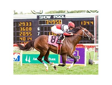 Mr. Nightlinger cruises to a new course record in the Arlington Sprint Handicap.