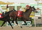 Dynamic Sky outfinishes entrymate Sky Commander to win the Pasco Stakes.