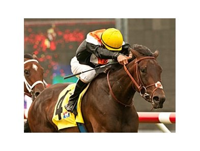 Wishing Gate won the San Clemente Handicap by 1 3/4 lengths on July 21.