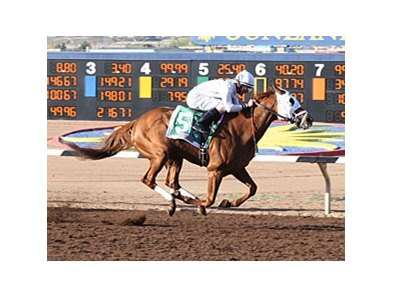 WinStar Farm's Endorsement handed Triple Crown contender Conveyance his first defeat in the Sunland Derby.