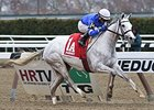 "Snowbell streaks to victory in the Comely Stakes.<br><a target=""blank"" href=""http://photos.bloodhorse.com/AtTheRaces-1/At-the-Races-2014/i-ZCmRDZX"">Order This Photo</a>"