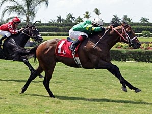 Tale of a Champion wins the 2012 Bob Umphrey Turf Sprint.