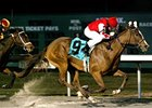 Harlan's Ruby takes the Valdale at Turfway under Perry Ouzts.