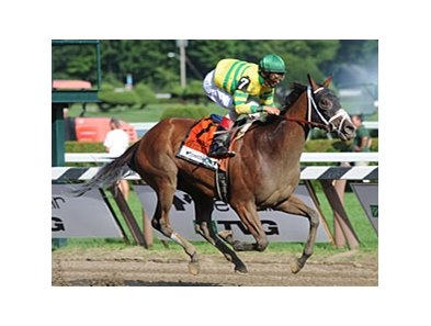 "Devil May Care cruises home in the Coaching Club American Oaks.<br><a target=""blank"" href=""http://www.bloodhorse.com/horse-racing/photo-store?ref=http%3A%2F%2Fpictopia.com%2Fperl%2Fgal%3Fprovider_id%3D368%26ptp_photo_id%3D9116784%26ref%3Dstory"">Order This Photo</a>"