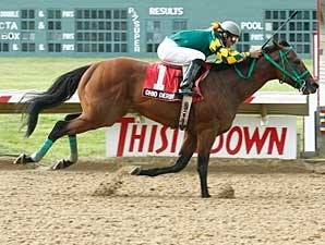 Smooth Air glides home in the Ohio Derby (gr. II).