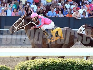 Devil and a Half wins the 2012 Arkansas Breeders' Stakes.