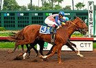Dortmund winning the Los Alamitos Futurity.
