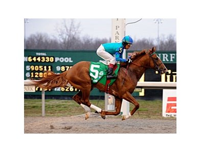 "Adriano, with Edgar Prado aboard, won the Lane's End (gr. II) at Turfway Park March 22.<br><a target=""blank"" href=""http://www.bloodhorse.com/horse-racing/photo-store?ref=http%3A%2F%2Fpictopia.com%2Fperl%2Fgal%3Fprovider_id%3D368%26ptp_photo_id%3D3940040%26ref%3Dstory"">Order This Photo</a>"