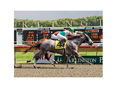 Informed Decision outfought 33-1 shot Rinterval in the final furlong to win the Chicago Handicap at Arlington Park.