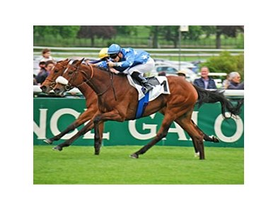 "Flotilla won the Poule d'Essai des Pouliches by a neck May 12.<br><a target=""blank"" href=""http://photos.bloodhorse.com/AtTheRaces-1/at-the-races-2013/27257665_QgCqdh#!i=2507939190&k=Mbs3Fg2"">Order This Photo</a>"