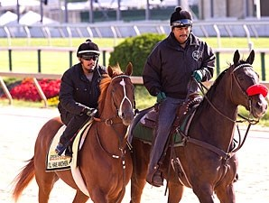I'll Have Another and Lava Man at Pimlico, May 10, 2012.