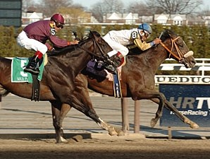 Tale of Ekati takes the Wood Memorial (gr. I) over War Pass.