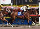 "Any Limit turns back Game Face to win the Hurricane Bertie. <br><a target=""blank"" href=""http://www.bloodhorse.com/horse-racing/photo-store?ref=http%3A%2F%2Fgallery.pictopia.com%2Fbloodhorse%2Fgallery%2F69713%2Fphoto%2Fbloodhorse%3A7756078%2F%3Fo%3D1"">Order This Photo</a>"