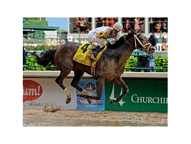 "Super Saver was the second horse sired by Maria's Mon to win the Kentucky Derby.<br><a target=""blank"" href=""http://www.bloodhorse.com/horse-racing/photo-store?ref=http%3A%2F%2Fpictopia.com%2Fperl%2Fgal%3Fprovider_id%3D368%26ptp_photo_id%3D8937876%26ref%3Dstory"">Order This Photo</a>"