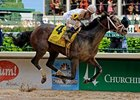"Will Super Saver have to change tactics in the Preakness?<br><a target=""blank"" href=""http://www.bloodhorse.com/horse-racing/photo-store?ref=http%3A%2F%2Fpictopia.com%2Fperl%2Fgal%3Fprovider_id%3D368%26ptp_photo_id%3D8937876%26ref%3Dstory"">Order This Photo</a>"