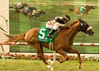 "Magical Fantasy cruises to an upset win in the Del Mar Oaks.<br><a target=""blank"" href=""http://www.bloodhorse.com/horse-racing/photo-store?ref=http%3A%2F%2Fpictopia.com%2Fperl%2Fgal%3Fprovider_id%3D368%26ptp_photo_id%3D5553339%26ref%3Dstory"">Order This Photo</a>"