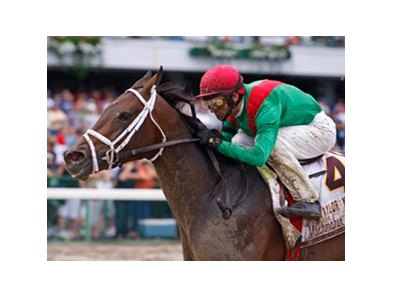 Captain's Lover with John Velazquez riding won the  Taylor Made Matchmaker Stakes at Monmouth Park.