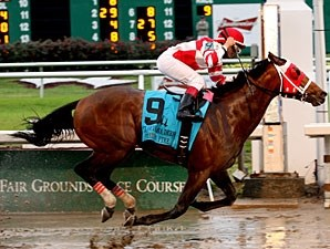 Friesan Fire wins the 2009 Louisiana Derby.