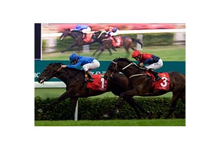 Ramonti scores in the Hong Kong Cup.