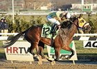 Good Luck Gus wins the Damon Runyon Stakes.
