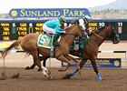Raise the Bridle finished first in the Borderland Derby at Sunland Park, but was disqualified and placed second.