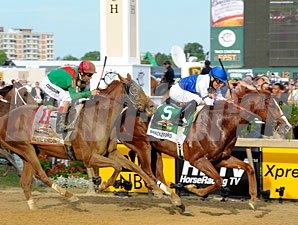 Shackleford wins the Preakness Stakes.