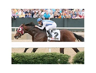 Alternation comes home strong in the Razorback Stakes at Oaklawn Park.